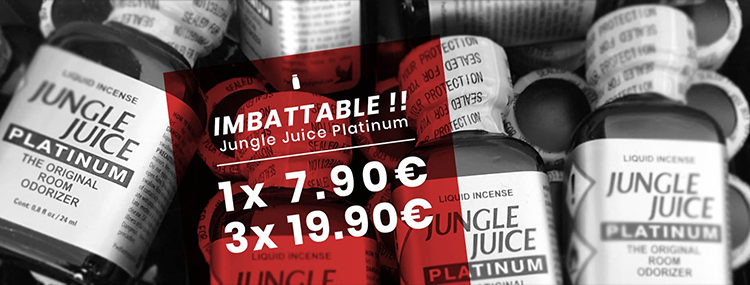 Poppers Jungle Juice Platinum à Prix imbattable
