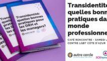 Café rencontre : la trans-identité dans le monde de l'entreprise
