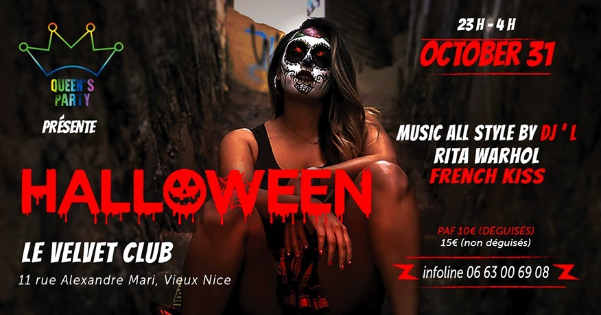Queen's PARTY Nouveau event LGBTQI Halloween