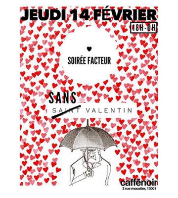 Soirée facteur sans Valentin au CafféNoir