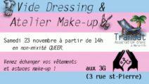Vide-dressing participatif & atelier make-up de Transat (2e édition)