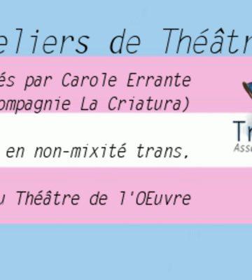 Ateliers de théâtre Transat !