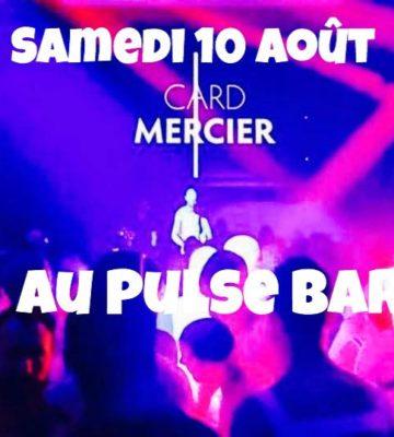 Card Mercier aux platines bar Le Pulse Marseille