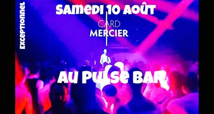 Card Mercier aux platines bar Le Pulse Marseille