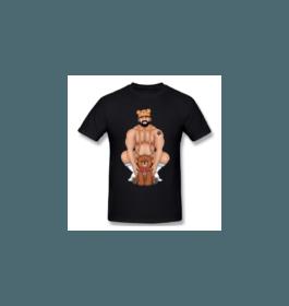 T-shirt PAPA OURS Noir