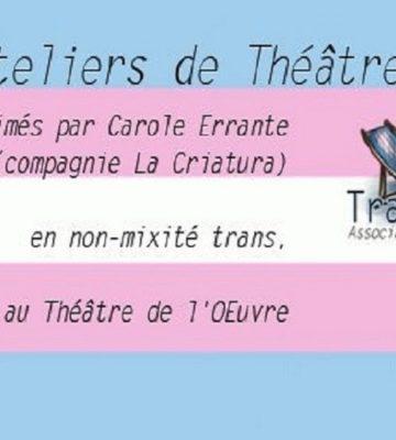 Ateliers de Théâtre [été 2020]